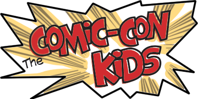 logo comic con kids